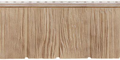 Цокольный сайдинг Я - фасад от Гранд Лайн - Коллекция Сибирская дранка, цвет песок