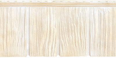 Цокольный сайдинг Я - фасад от Гранд Лайн - Коллекция Сибирская дранка, цвет Слоновая кость