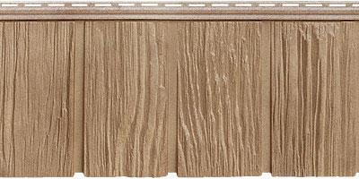Цокольный сайдинг Я - фасад от Гранд Лайн - Коллекция Сибирская дранка, цвет янтарь