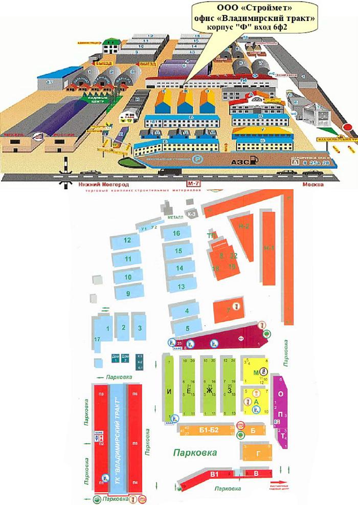 Схема расположения павильона
