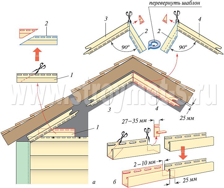Крыша сайдингом своими руками 92