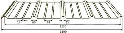 Профнастил НС18к-1150