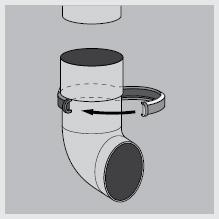 Установка водосточного слива