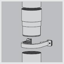 Соединение водосточных труб между собой